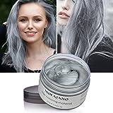 MOFAJANG Hair Color Wax Silver Gray Hair Wax 4.23 oz Temporary Hair Dye Natural Hairstyle Pomade Cream Unisex Wax for Men and Women(Grey) (Tamaño: Grey)