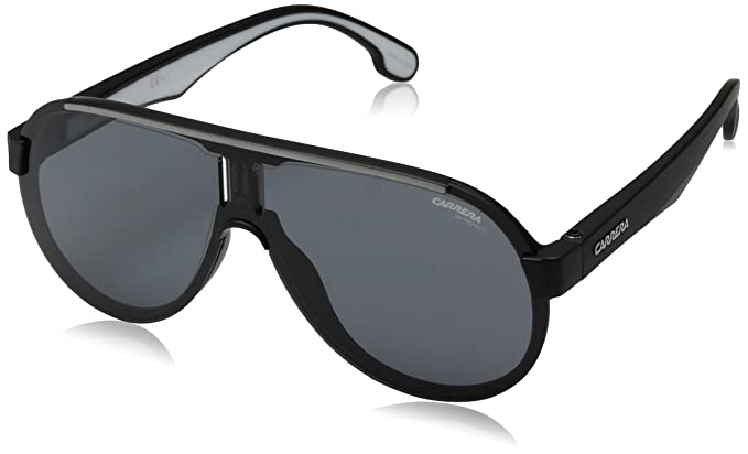 0df0e7641c Carrera Plastic 1008/s Aviator Unisex Sunglasses (Matte Black White, 99 mm)