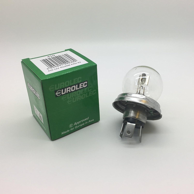 10 x Eurolec 410 R2 12v 45//40w P45T  Car Headlight Headlamp Bulb
