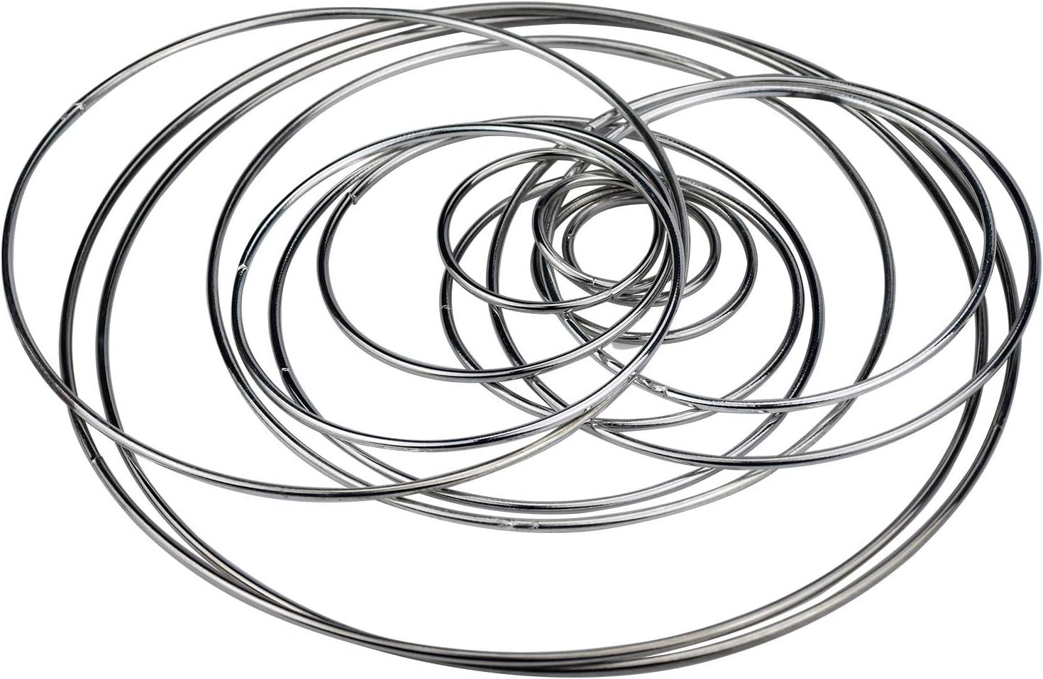 Hancend Set di Aghi intercambiabili in bamb/ù carbonizzato Set di Anelli per Ferri circolari in Alluminio