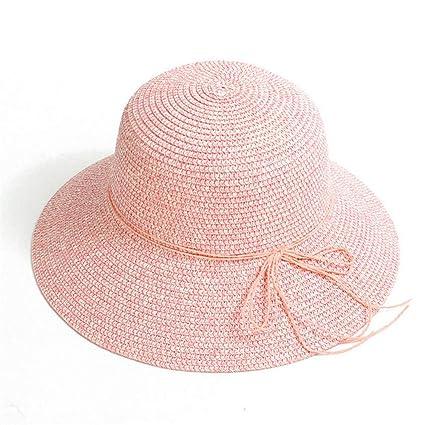 Goooodrry Sombreros Plegables de Las Mujeres Sombrero de Paja de la Rafia  2018 Sombreros Elegantes de 7c5176bd521
