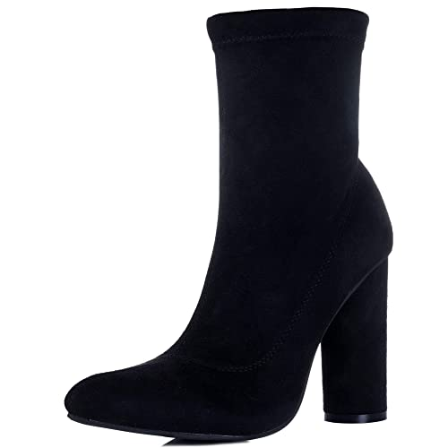 e924849f44247 Amazon.com   Spylovebuy SCIRICA Women's Cylinder Heel Ankle Boots ...