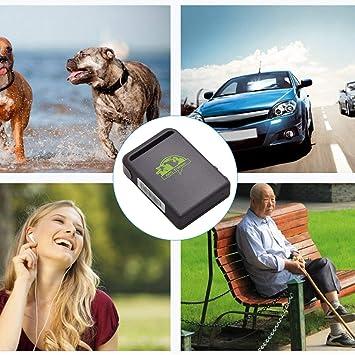Gugutogo Dispositivo de rastreador GPS para coches (tamaño pequeño, GPS SMS GPRS SOS,