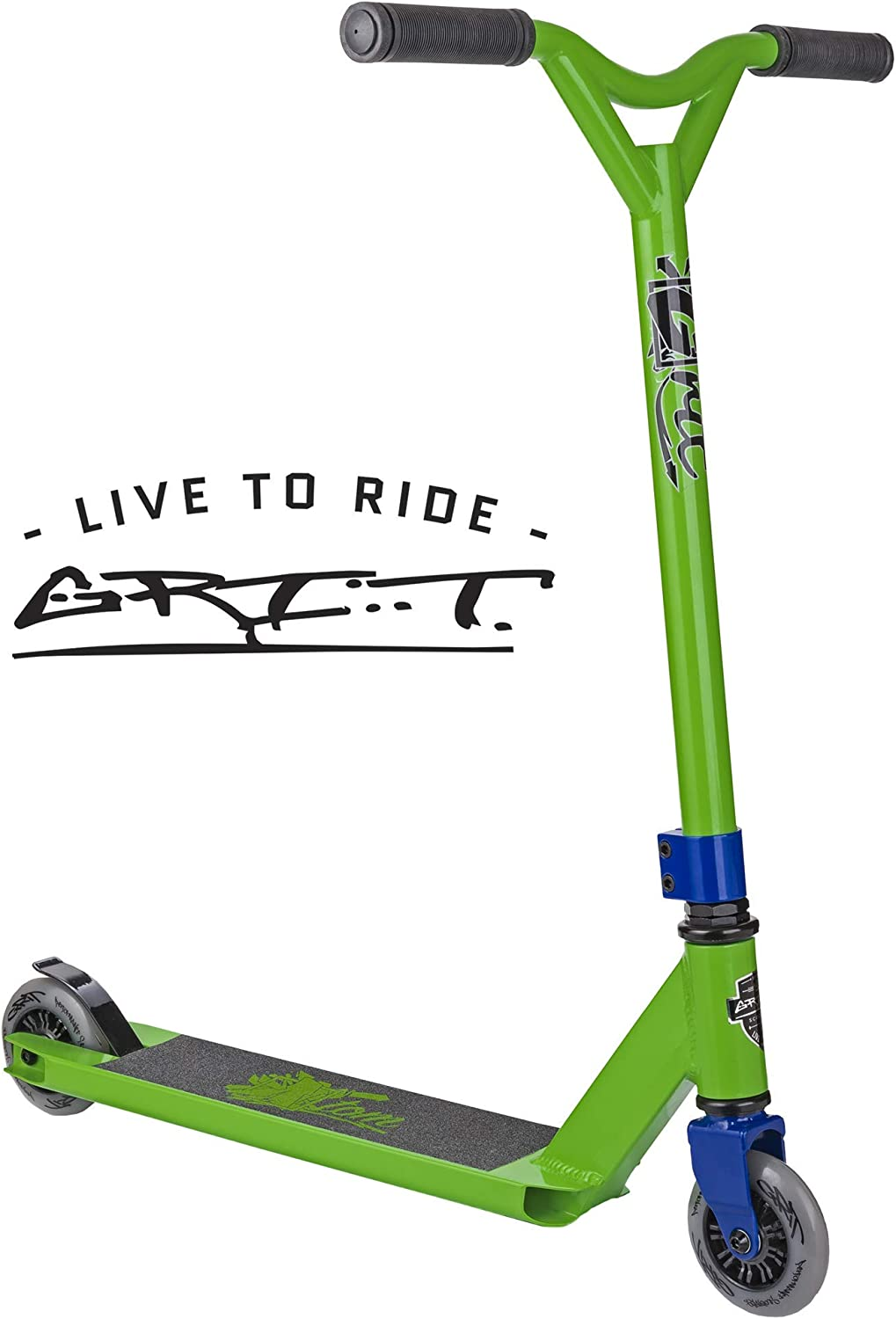 Grit Atom Pro Scooter – Stunt Scooter – Trick Scooter – Beginner Intermediate Pro Scooter – for Kids Ages 6 and Heights 4.0ft-5.5ft