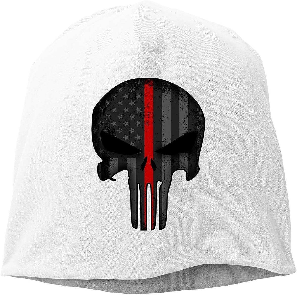 Firefighter American Flag Thin Red Line Skull Cap Helmet Liner Beanie Cap for Men Hip Hop Hedging Head Hat