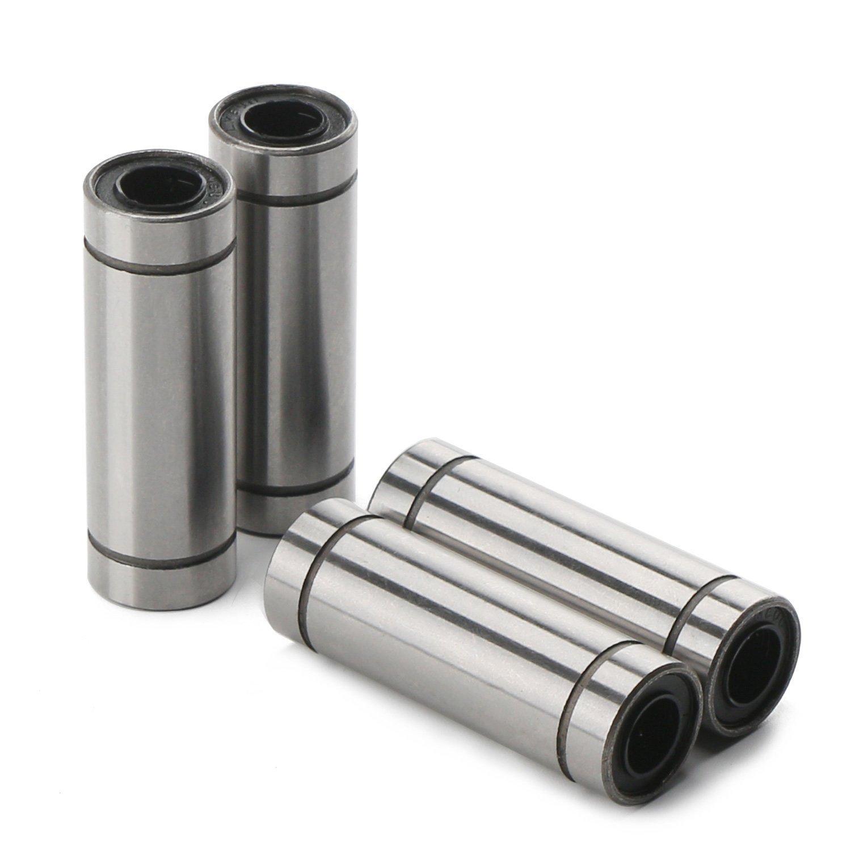 4 Packungen LM8LUU Linearkugellager 8 x 15 x 45mm Dimension Linear Motion Lagerbuchse Geeignet f/ür 3D Drucker RepRap Prusa Mendel CNC DIY /…