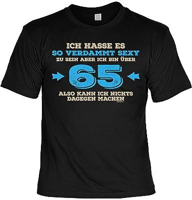 Lustige Geschenkidee 65 Geburtstag Herren T Shirt Verdammt