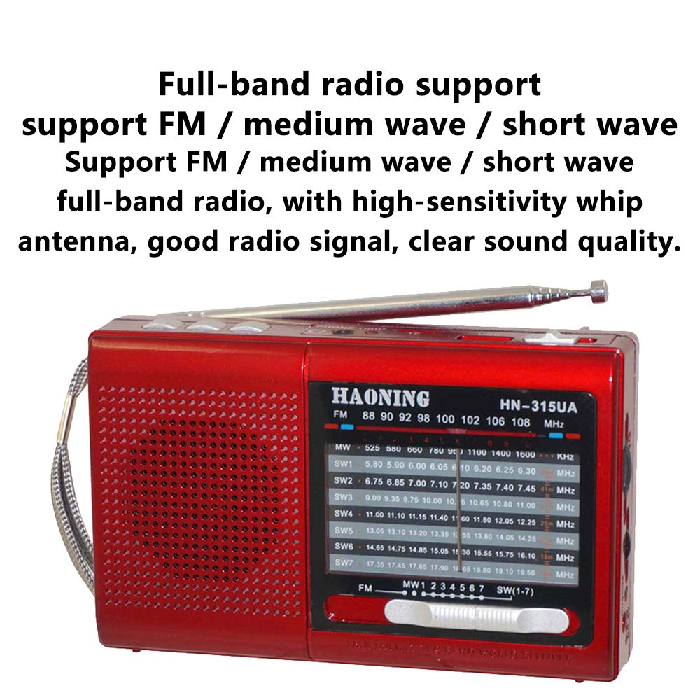 Household appliances Support TF Card U Disk Full-Band Radio, Retro pin-Type Three-Band Radio, Multifunctional Old Radio Speaker AOYS by Household appliances (Image #9)
