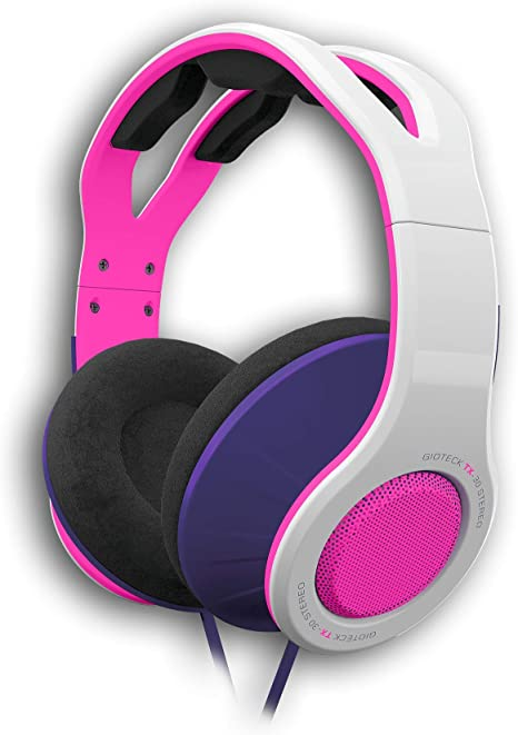 Gioteck - Auricular Estereo con cable blanco y rosa TX-30 ...