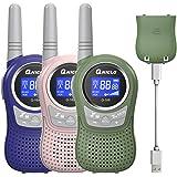 QNIGLO Q168Plus+Macaron Walkie Talkie Niños 3 Paquetes Recargable USB,PMR446 Comunicación Bidireccional 8 Canales,Buen…