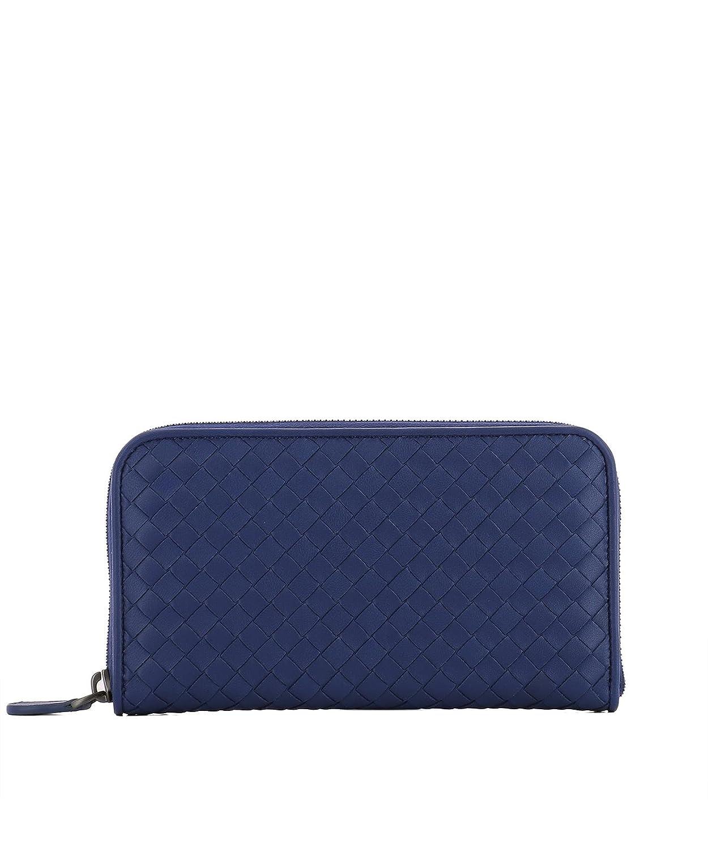 Bottega Veneta - Cartera para hombre de piel Hombre Azul azul Talla De La Marca Talla única: Amazon.es: Ropa y accesorios