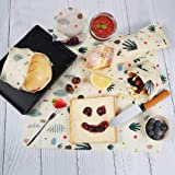 Beeswax Wrap For Food Storage(Assorted 3 Pack) | Reusable Bees Wax Wrappers Perfect For Sandwich, Vegetable & Bread Cover | Eco-Friendly Sustainable Plastic-Free | 100% Organic Cotton Food Wrappers.