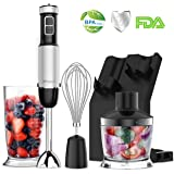 XProject (Upgraded) Immersion Blender,Powerful 800W 4 in 1 Hand Blender with 6