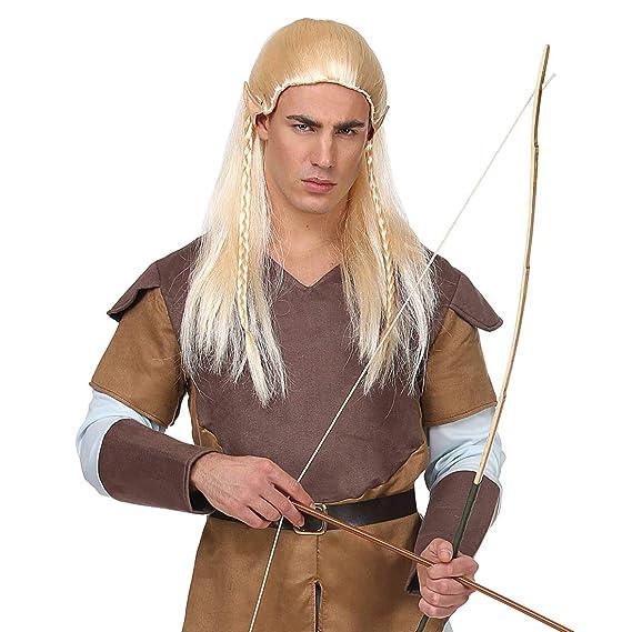 Peluca de fantasía Elfo para Hombre / Rubio / Fabulosa Peluca para Carnaval Arquero / Apropiado para Festivales y carnavales: Amazon.es: Juguetes y juegos