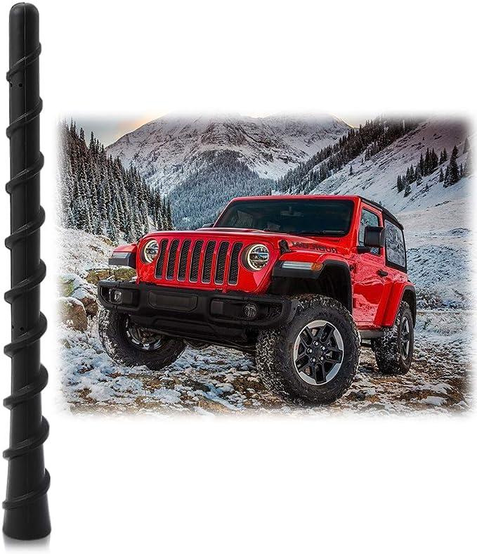 7/' Spiral Antenna Mast for 2007-2019 Jeep Wrangler JK JL Upgrade Replacement OEM