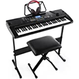 Joy JK-61 61-Key Electronic Keyboard Pack with Headphones,Microphone,Stand,Stool,and Power Supply