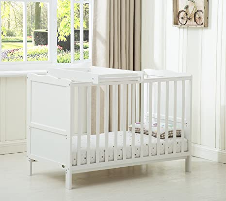 Mcc Wooden Baby Cot Bed Orlando With Top Changer Water Repellent