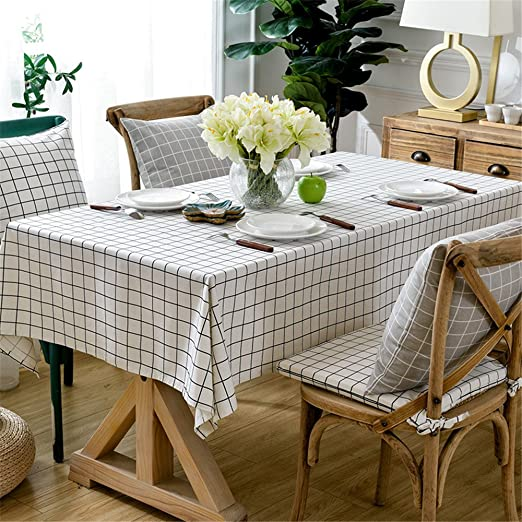 JuAnQ Los pequeños cuadrados blancos minimalista moderno algodón ...
