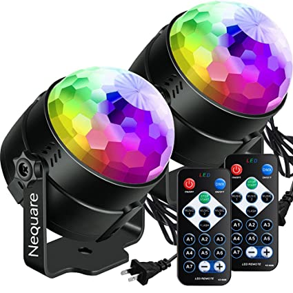 amazon com nequare party lights sound activated disco ball strobe