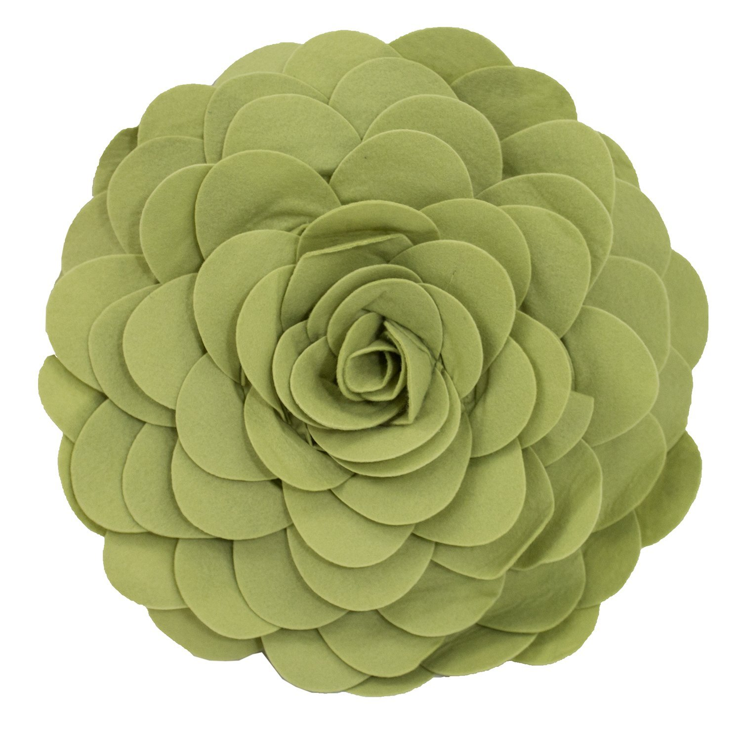 Eva's Flower Garden Decorative Throw Pillow With Insert - 13 inch Round (Lime-Case Only)