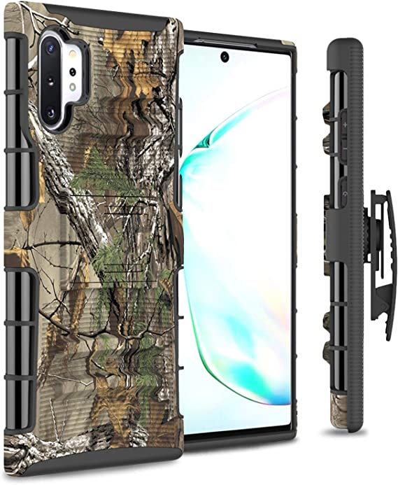 CoverON Rugged Belt Clip Kickstand Explorer Series for Samsung Galaxy Note 10 Plus Holster Case//Note 10 Plus 5G 2019 Camo
