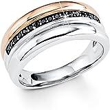 S.Oliver Damen-Ring Silber vergoldet teilvergoldet Zirkonia schwarz 508_5
