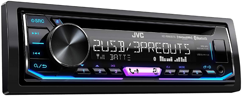 Amazon.com: JVC KD-R995BTS 1-Din CD Receiver Featuring BT/Front & Rear Dual  USB/13-Band EQ: Car Electronics