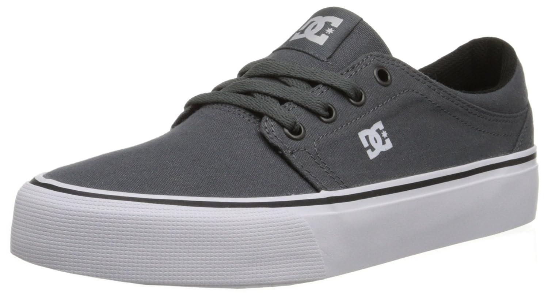 DC Men's Trase TX Unisex Skate Shoe B00R1YNJ56 9.5 B(M) US|Grey/Grey/White