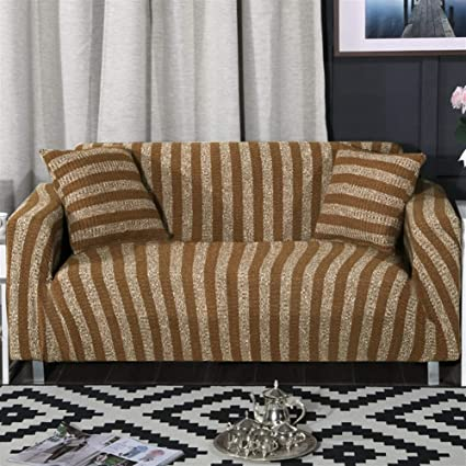 Fine Amazon Com Oncefirst 1 Piece Knit Stretch Striped Sofa Andrewgaddart Wooden Chair Designs For Living Room Andrewgaddartcom