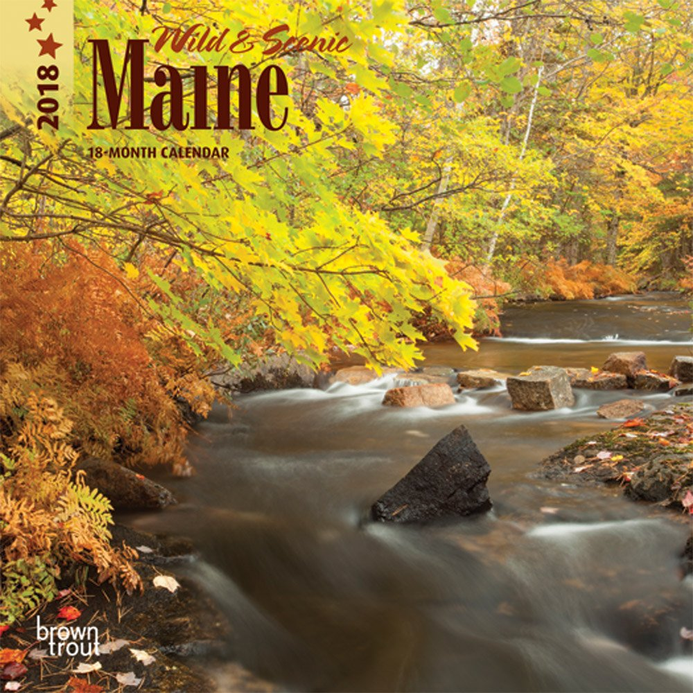Maine, Wild & Scenic 2018 7 x 7 Inch Monthly Mini Wall Calendar, USA United States of America Northeast State Nature (English, French and Spanish Edition)