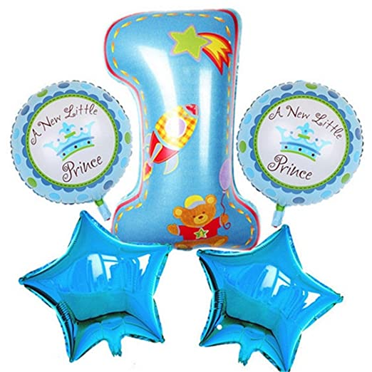 valink 5pcs Feliz cumpleaños Decoración Globos de helio ...