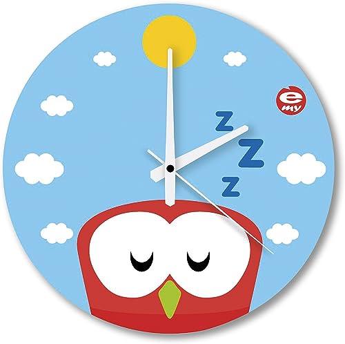 E-My 54470652 Wall Clock with Carpediem Boundi Design