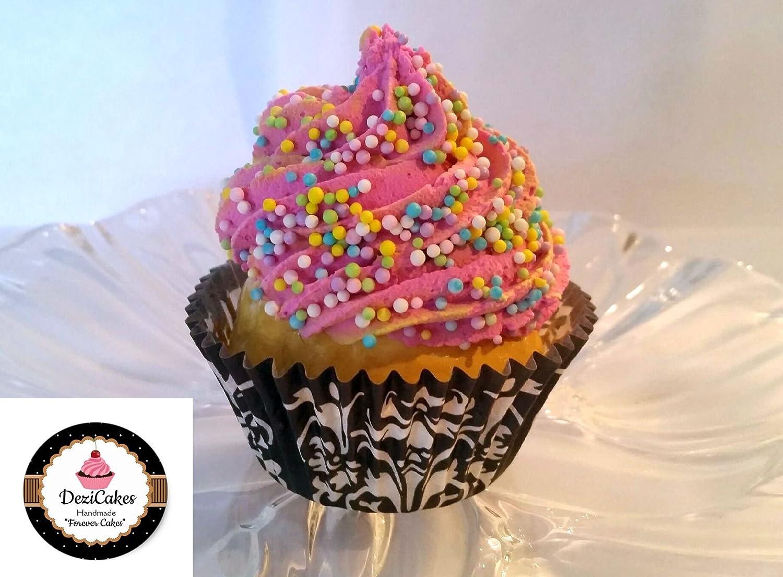 FakeカップケーキピンクFaux cupcake- Fake食品表示 B07BC8SL2Z