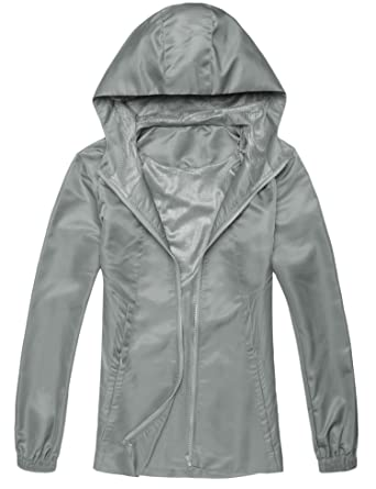 2e52b57094a Amazon.com: SoTeer Women Waterproof Lightweight Rain Jacket Hoodie  Raincoats Active Outdoor Windbreaker Anorak: Clothing