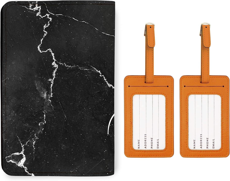 Personalized RFID Passport Holder 2 Matching Luggage Tag Set RoseGold