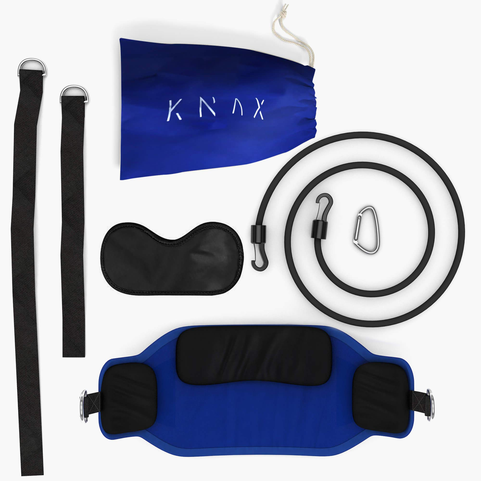 Neck Hammock Cervical Traction Device - Portable for Travel | Neck, Head, Shoulder Pain Relief | Blue | By Knax