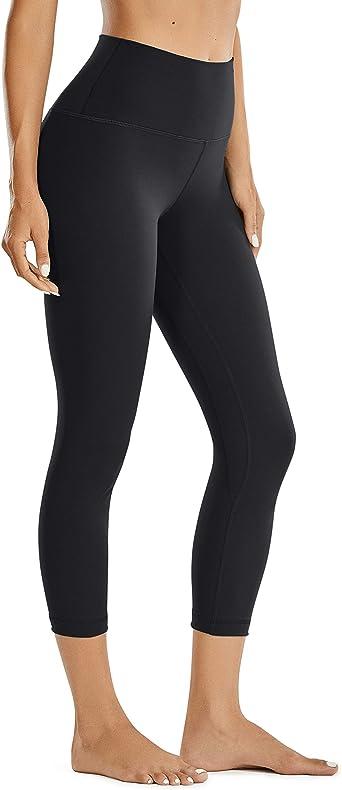 CRZ YOGA Women Matte Brushed Thick Leggings Capris Leggings Gym Crops Workout Yoga Pants -21 Inches
