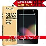 ASUS Google Nexus 7 Glass Screen Protector,(2012 Model) AnoKe (0.3mm 9H Hardness) Tempered Glass Screen Protector For ASUS Google Nexus 7 1nd , [Lifetime Warranty] Glass