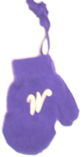 Blue Mitten with Chosen Ivory Monogram for Ages 0-12 Months. Baby Gloves & Mittens