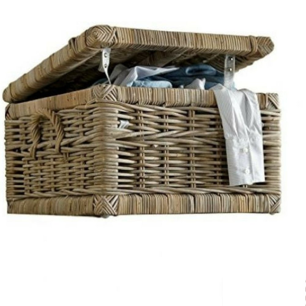 Laundry Hamper Storage Basket Small Bathroom Square Store Laundry Organizer & Ebook By Easy2Find by STS SUPPLIES LTD