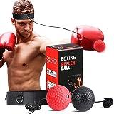SPECOOL Reflejo de Boxeo Ball, Fight Ball con Diadema Fight MMA Training Reacciones de Velocidad de Velocidad Mejorar…