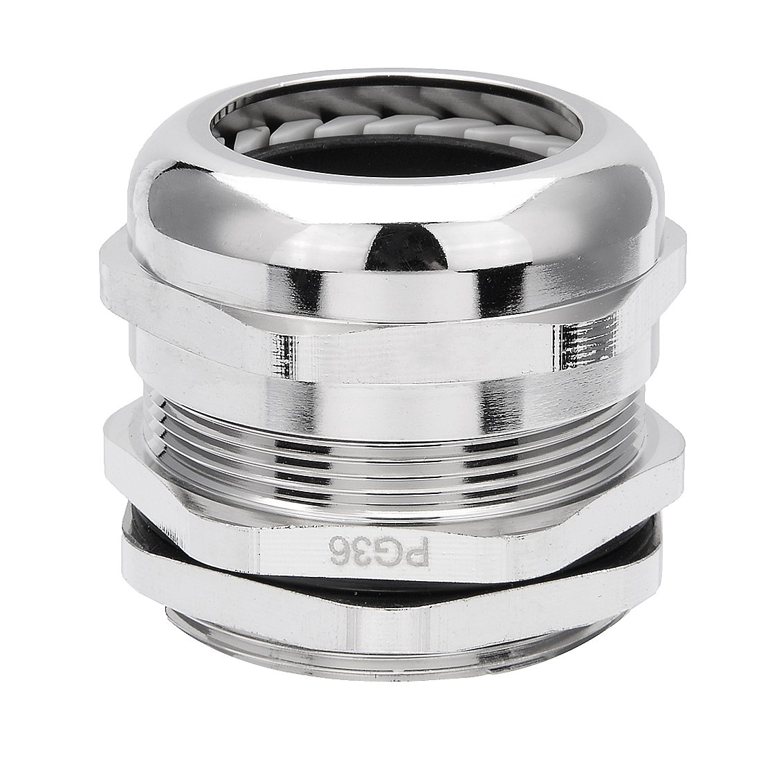 uxcell Cable Gland PG36 Metal Waterproof Cable Glands Joints Adjustable Connector for 25-33mm Dia Cable