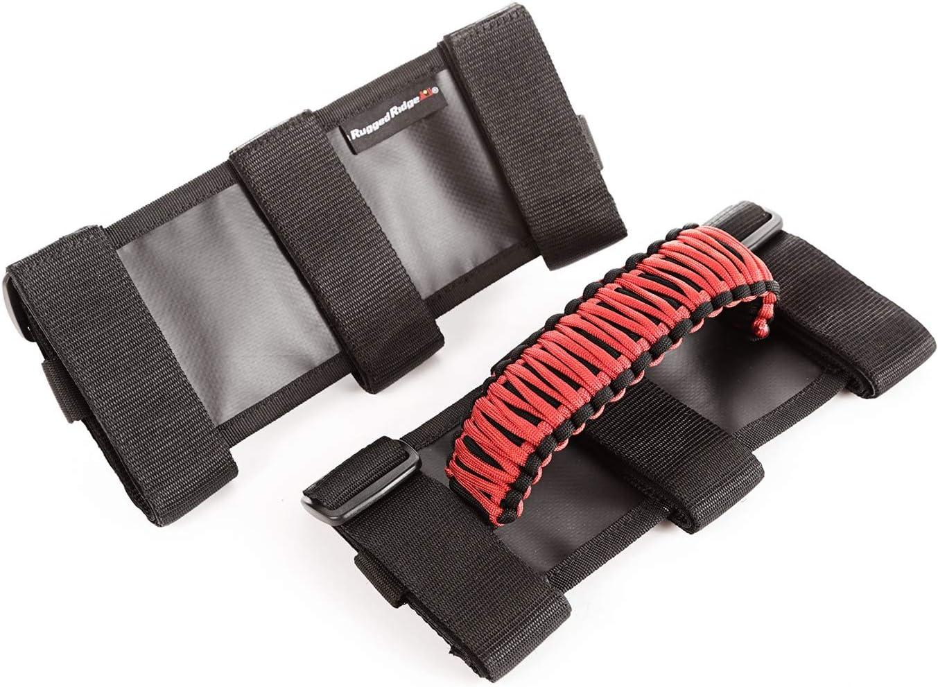 Rugged Ridge 13505.31 Red /& Black Paracord Grab Handle Kit for 55-current Jeep CJ//Wrangler//Gladiator