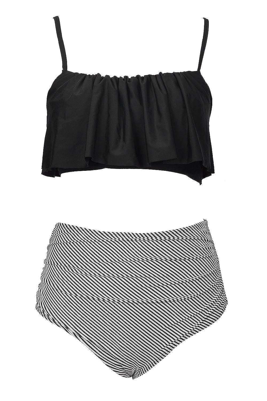 994892553bf CUPSHE Women's Falbala Design Bikini Set