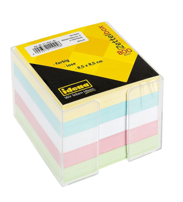 Idena 311024–Porta post-it, 8,5x 8,5x 8cm, 800fogli, colori
