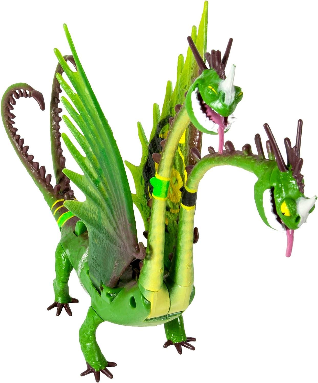 Amazon Com Dreamworks Dragons How To Train Your Dragon 2 Power Dragon Zippleback Racing Edition Action Figure Toys Games