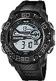 Calypso Herrenarmbanduhr Quarzuhr Kunststoffuhr mit Polyurethanband digital K5691, Farben:schwarz