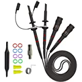Goupchn Oscilloscope Clip Probes 200MHz Fully Insulated BNC End Probe with Accessories Kit 1X 10X