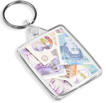 Cash Money Monnaie Keyring Livre Sterling Fun Quid