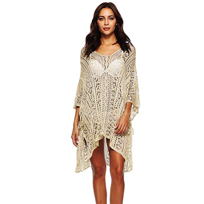 8ddef3aa9b ChicChic Sexy Junior's Beach Wear Tops Outfit Bikini Cover up Short  Bohemian Beach Dress